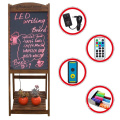 LED glass surface wooden blackboard